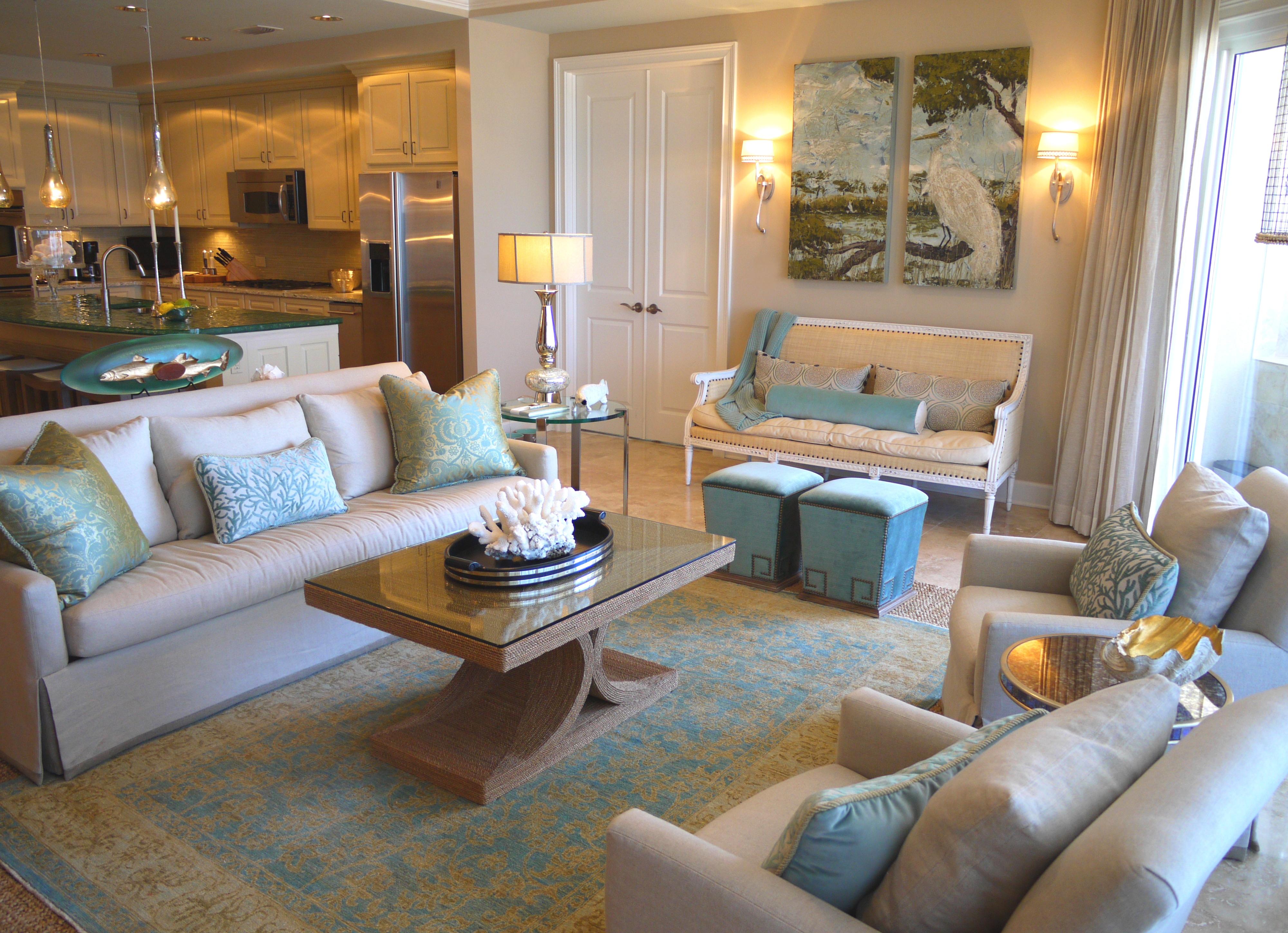 Grand Dunes Condominium in Destin Florida Interior Design by Cara