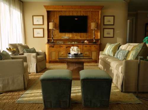This Is The Living Room Natural Linen Fabrics Of Sofa And Swivel Chairs Were Made More Sophisticated By Clean Lines Bench Seat Cushion