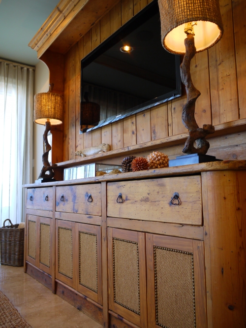 The Main Focal Piece In This Room Is A Large Heart Pine Sideboard And Hutch That Clients Brought From Home An Antique Once Resided