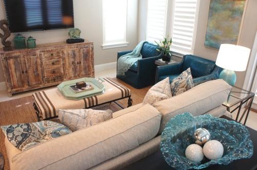 L-Shaped Furniture arrangement