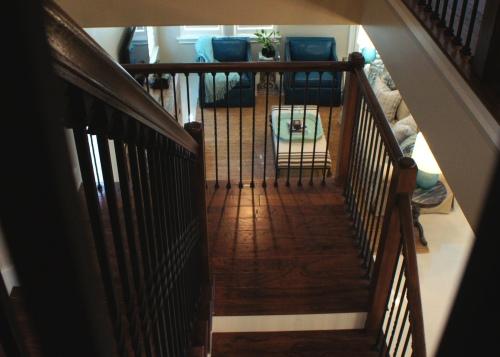 View through Stair Railings