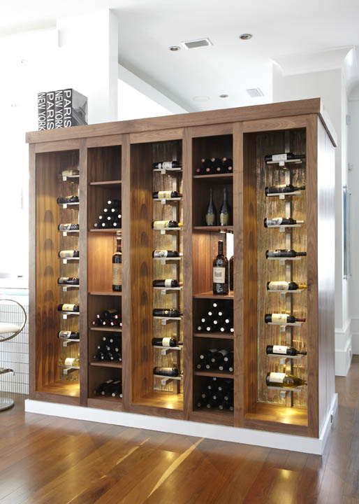horizontal wine rack plans