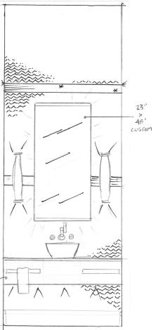 Here is my original design sketch for the room.