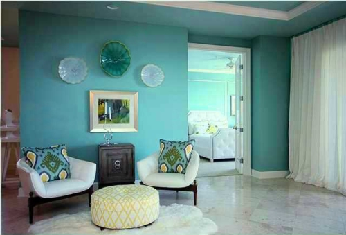 I believe it is important for connected rooms to maintain visual unity, so that when doors are open, everything flows together.  Here you can see how the colors in my guest bedroom shine right along with my Living and Lounge.