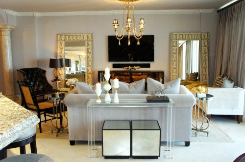 When the walls were gold, everything in the room will had a yellow tint.  The new gray walls neutralized that effect, and allowed my gold accents to have more impact.
