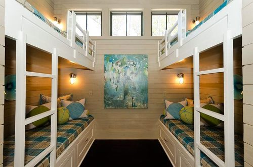 Watercolor Bunk Room