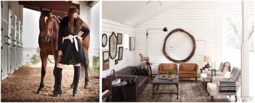 """The """"humble abode"""" here (owned by Ellen Degeneres) reflects a more simple, purist interpretation. This room is the perfect place for EE to kick her boots off and relax!"""
