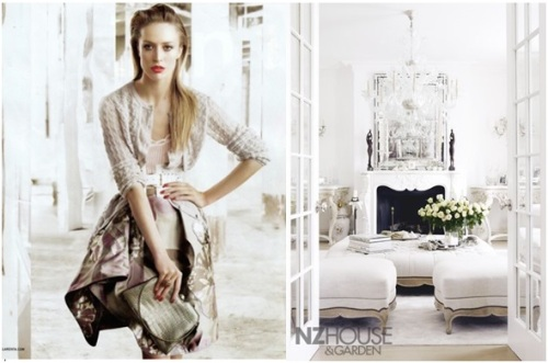 She might simply be drawn to all things classic and feminine, with a French flair and neutral color palette.