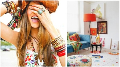 Or, our bohemian princess may prefer a more vibrant, whimsical and charming environment with eclectic colors that are inspired by nature and spring! (She probably likes to shop at Anthropologie, and hunt for flea market treasures!)