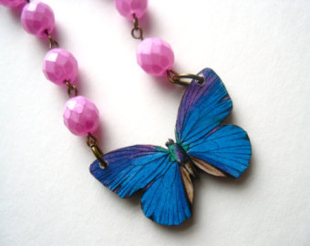 cobalt & orchid necklace