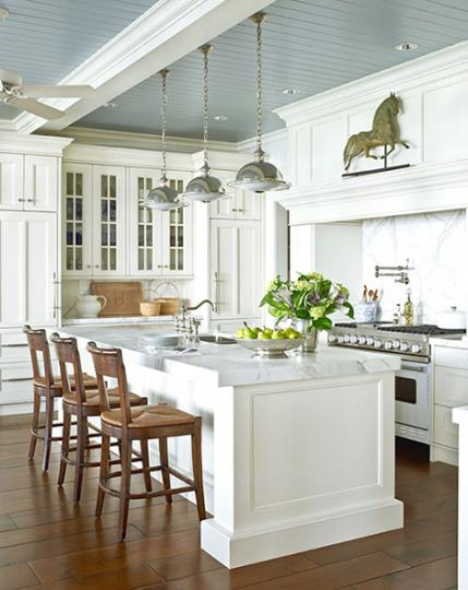 gray ceiling kitchen