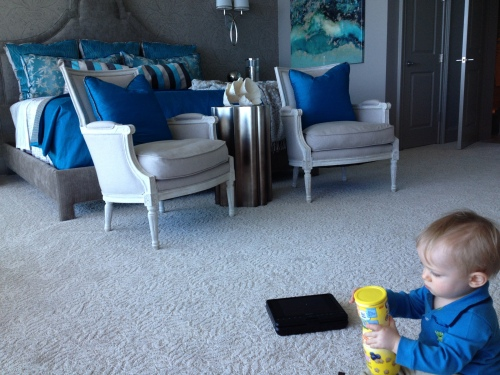 """My son, Case, """"helping"""" me install!  He is currently almost 3 years old!!  Yes, I am a little behind posting this!"""