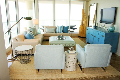 Living Room; coastal modern