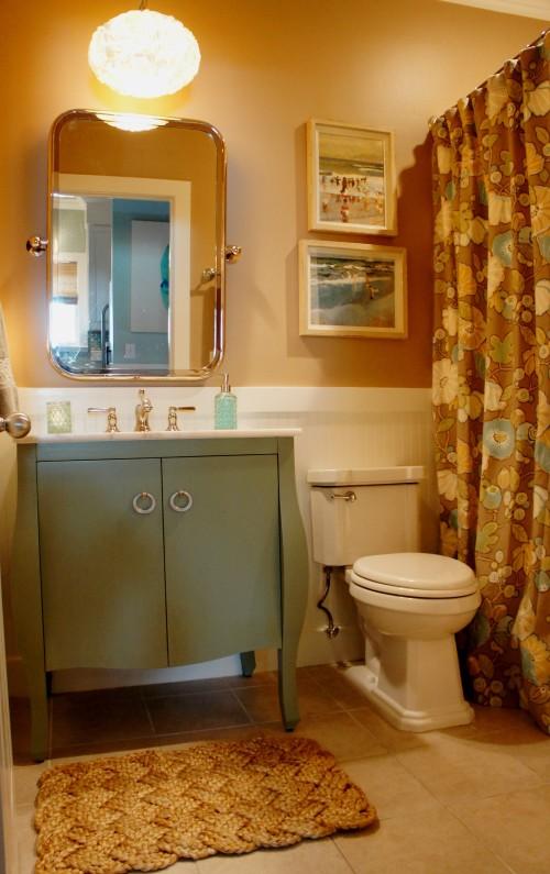 AFTER:  Now a quaint cottage bath!