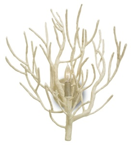 "Finally, I wanted to show you a close-up of these fun, natural twig sconces by Currey and Company!  ""Eventide Sconce"""
