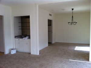 View into dining/kitchen Before: