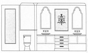 Master Vanity Concept Drawing: